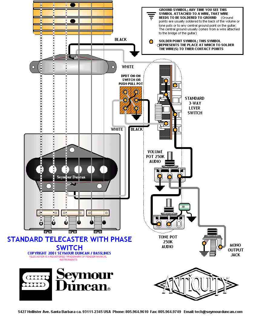 Guitar Wiring Diagram 2 Humbuckers 3way Lever Switch 1 Volume Tone Stack Single 3 Way