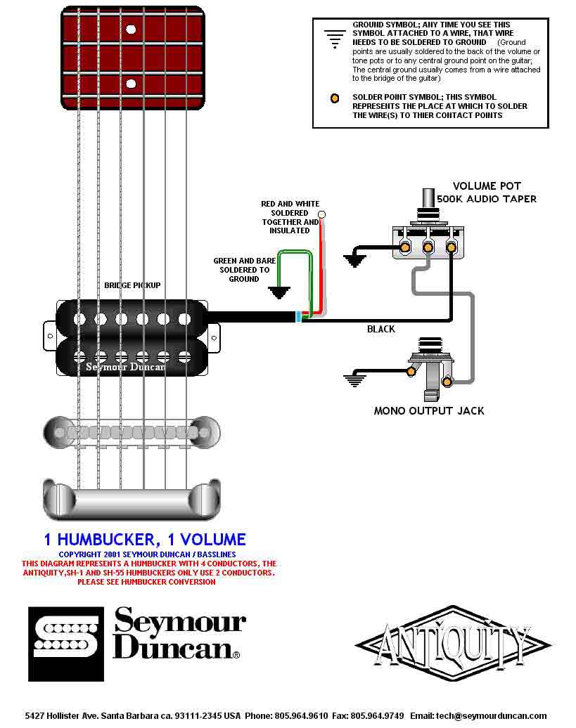 4 Conductor With Gibson Les Paul Wiring Diagram 1 Humbucker Volume
