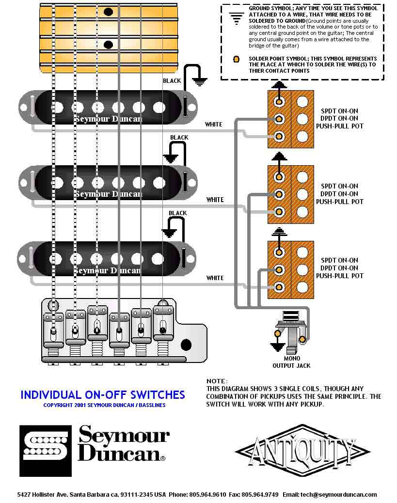 Soulsinger Two Humbucker W 1 Volume And 2 Tone 5 Way Switch Wiring Diagram 3 Singles