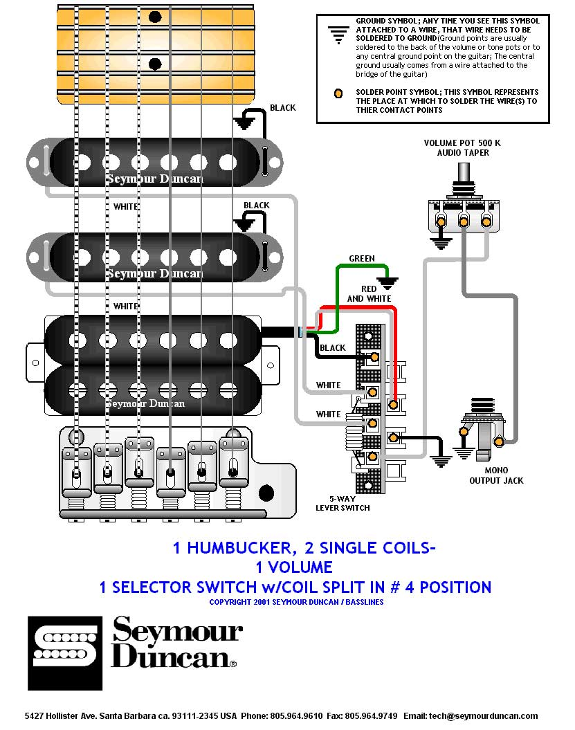 Guitar Wiring Diagram Dimarzio Tele Humbucker Fresh For Seymour Duncan Hss Schematics Diagrams U2022 Rh Parntesis Co Pertronix Ignitor Ii