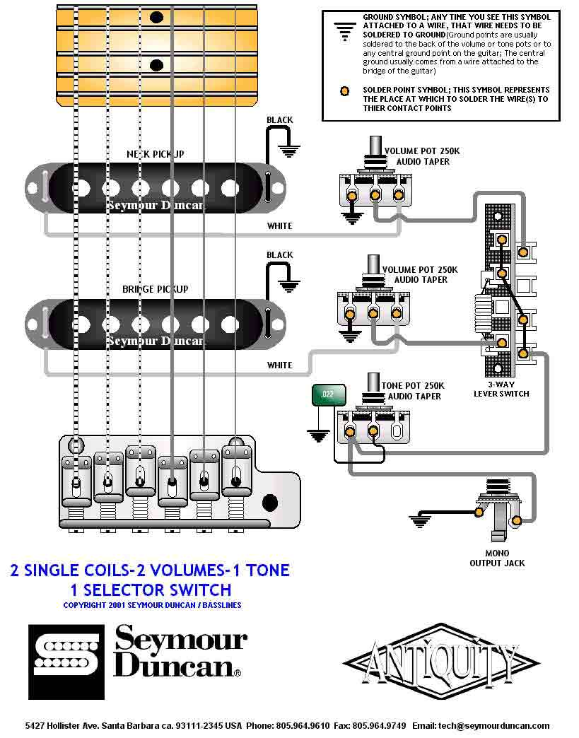 Emg Hsh Wiring Diagram Quick Start Guide Of Single Coil Pickup Get Free Image About Seymour Duncan Guitar Diagrams