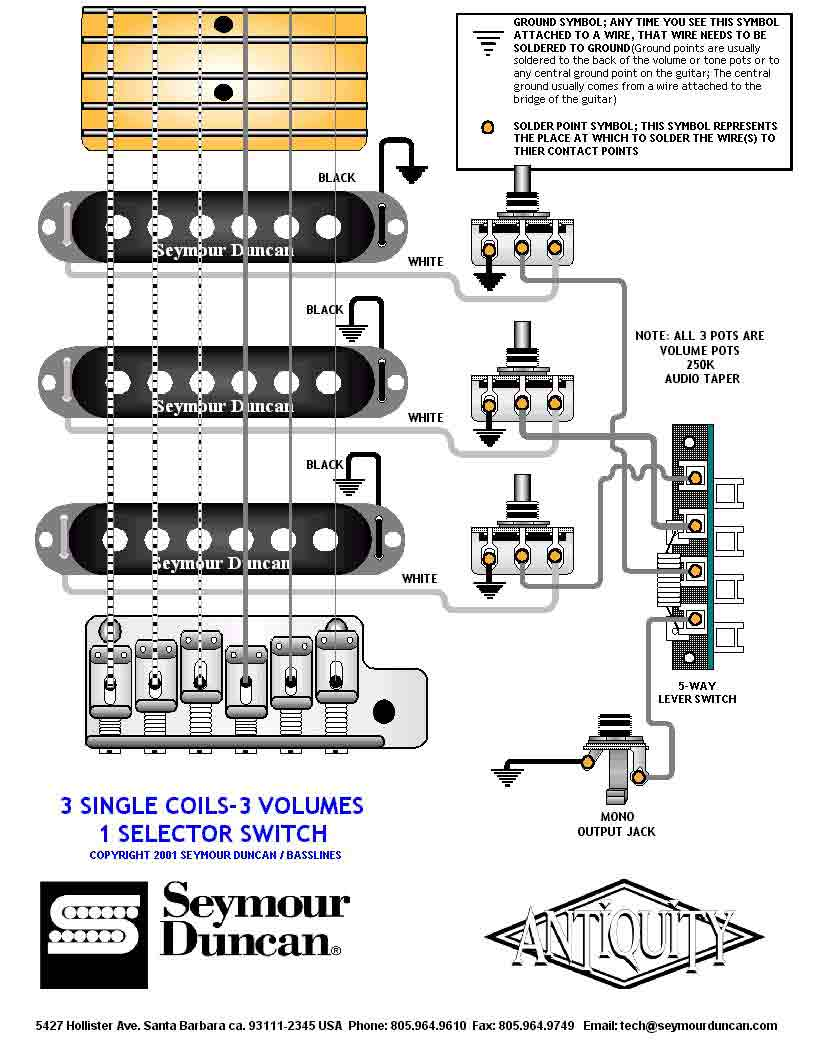 Soulsinger Guitar Wiring Diagram Active 1 Volume 2 Pickups 3 Way Switch Humbucker Single Tone