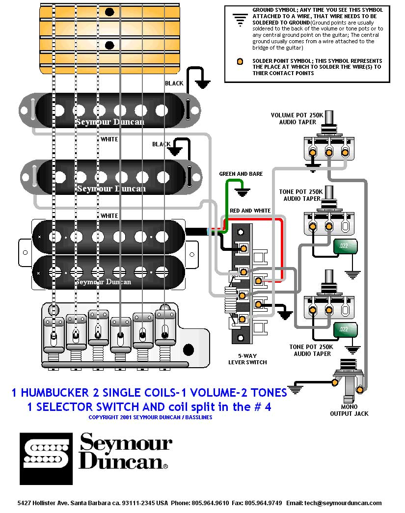 2 Single Coil 1 Humbucker Volume Tone Wiring Solutions Diagrams Soulsinger Humbuckers Vol 3 Way Selector Switches View Diagram