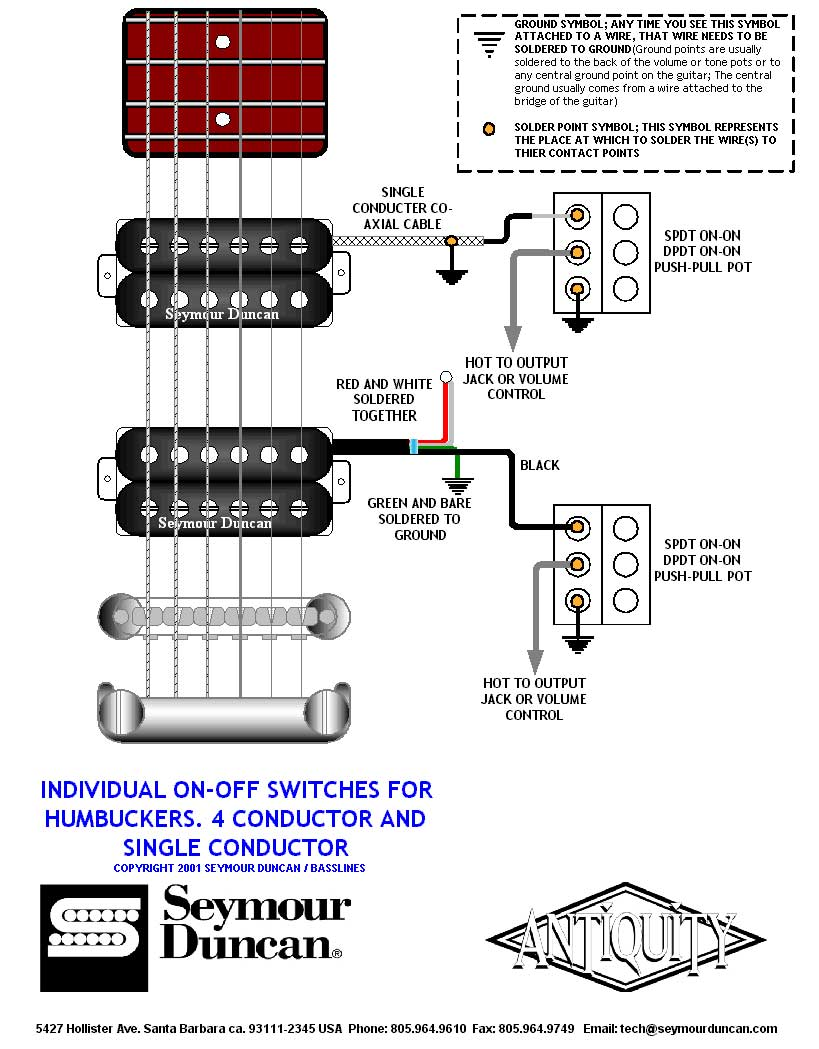 Soulsinger Shr 1 Series Wiring Diagram Hot Rails 2 Humbuckers 3 Way Switch Volume
