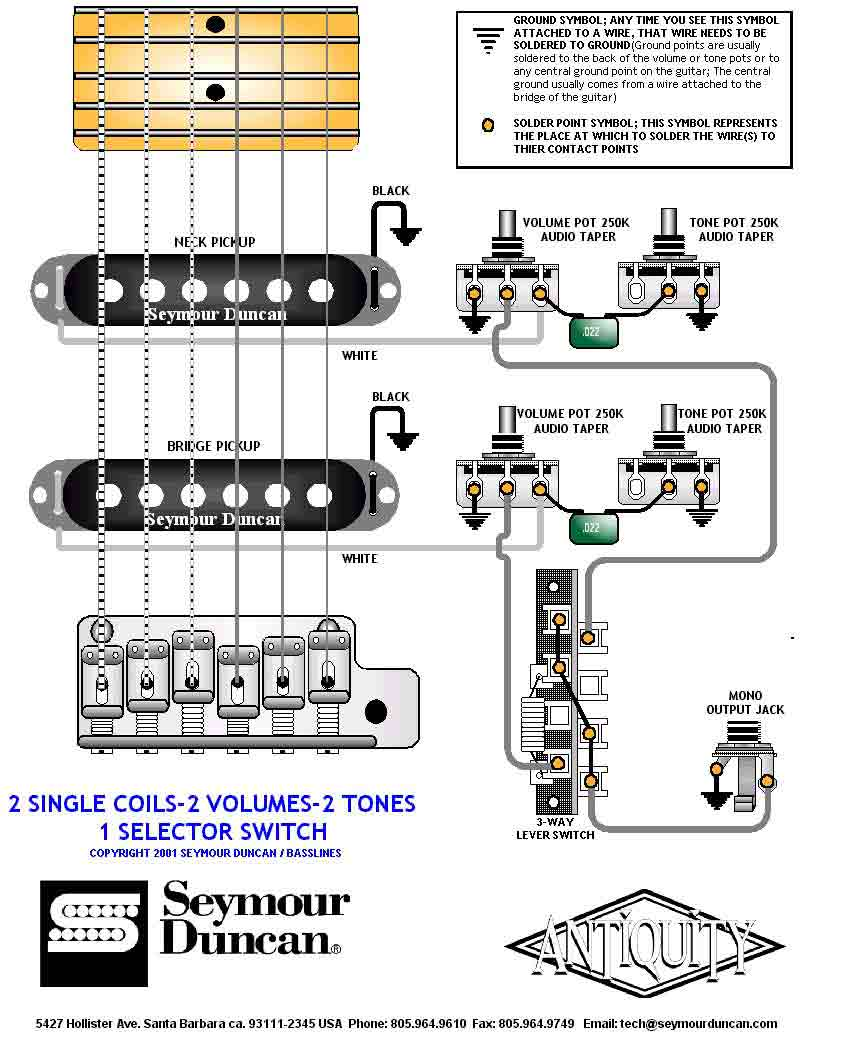 Wiring Diagram Hh 2 Volume Tone Three Way Switch Electrical Two Humbucker W 1 And 5 Soulsinger